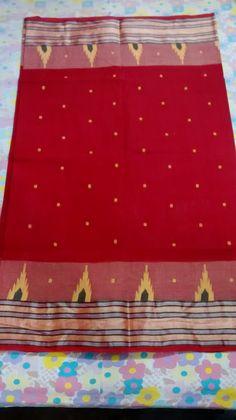 Red Color Matha Tangail Saree BT2013   Color : Red-2013, Yellow-2013A, Deep Yellow-2013B, Light Green-2013C, Orange-2013D