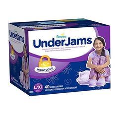 Pampers UnderJams Bedtime Underwear Girls Size L/xl 42 Count for sale online Huggies Diapers, Target, Bed Wetting, Diaper Sizes, Cotton Underwear, Disposable Diapers, Training Pants, Happy Baby, Childcare