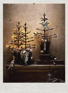 lit tabletop tree from ModernMountainDesign.com. #Christmas #holidays #Decoration
