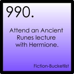 Fictional bucket list#990: Harry Potter