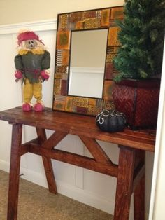 A Vision to Remember All Things Handmade Blog: Cheap Wood Entry or Sofa Table Using 2x4's