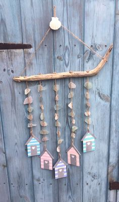 Nautical Wooden Beach Hut seaglass And Driftwood Windchime    eBay