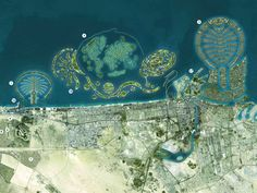 Dubai World islands. Totally amazing! All mad made islands shaped like different things!! Incredible!