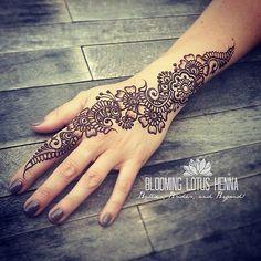 Arabic Strip Henna; hand   www.bloominglotushenna.com Portla…   Flickr
