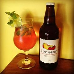 My new concoction - the Mango Mojito. Rekorderlig Mango/Raspberry cider, white rum, mint & lime. It is simply delicious!