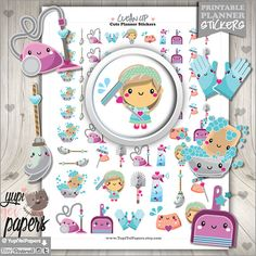 *****REGULAR PRICE $2usd - NOW $0.98usd***** ----------------------------------------------------- Clean Up Stickers - Planner Stickers for your Planner Printable Planner stickers are perfect to use in your planner, notebooks, calendars and more!. You can print these out with the help