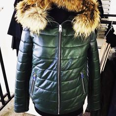 Winter is coming !!!real leather puffy