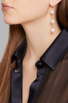 Delfina Delettrez | 18-karat gold pearl earring | NET-A-PORTER.COM