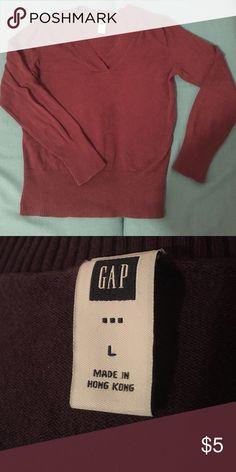 Women's plum GAP sweater Women's Gap Sweater. Plum colored. Used condition. GAP Sweaters V-Necks