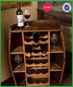 Reposteria decorativa nuevo barril de madera de pino, Estanteria de madera de almacenamiento de vino para la venta caliente