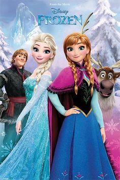 {Frozen - Disney - Snow Forest - Official Poster} Felt ornaments or garland. Princesa Disney Frozen, Disney Princess Frozen, Disney Princess Drawings, Disney Princess Pictures, Frozen Elsa And Anna, Elsa Anna, Frozen Images, Frozen Pictures, Frozen Wallpaper