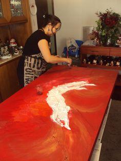 Leila ENGELS (née en 1969) peintre. (Photo: Thierry de Bruma)