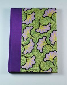 Address Book LAVENDER GINKGO handmade in the USA by WolfiesBindery, $25.00