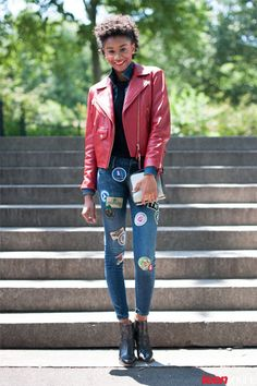 Learn How to Style Fall's Tough Biker Trend with It Girl Ease