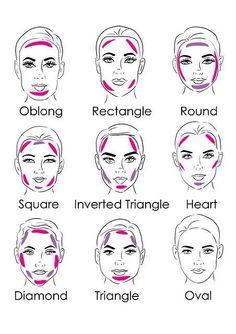 Image via We Heart It #contour #diy #face #heart #highlight #makeup #rectangle #round #shape #tips #oblong