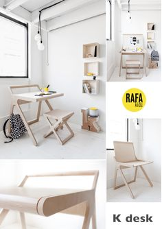 Design | K desk by Rafa Kids - thank you minor de:tales http://www.rafa-kids.com/shop/k-desk/
