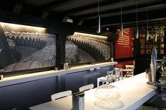 #Bar #contemporaneo #contract via @planreforma #accesorios #encimeras #revestimientodiseñado por soluciones aústicas Integrales, s.l.l - Gremio