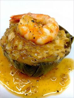 Alcachofas Rellenas De Merluza Y Gambas Spanish Cuisine, Spanish Dishes, Nut Recipes, Cooking Recipes, Healthy Recipes, Vegan Junk Food, Vegan Sushi, Vegan Smoothies, Eggplant Recipes