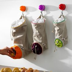 """Orka by Mastrad """"Vegetable Keep Sacks""""  Apparently, you store things like garlic, potatoes and onions in here where they are safe from light. This prevents them from sprouting and keeps them edible for a longer period of time."""