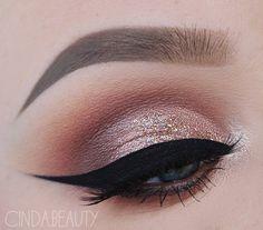Rose gold makeup looks