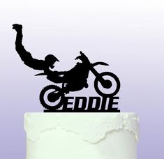 Personalised Motocross Cake Topper by ArdereDesigns on Etsy