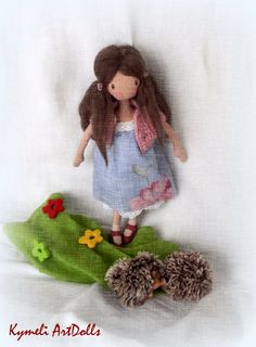 Kymeli OOAK Art Dolls and Dolls . by kymeli Soft Dolls, Christmas Ornaments, Holiday Decor, Handmade Gifts, Vintage, Art, Kid Craft Gifts, Art Background, Christmas Jewelry