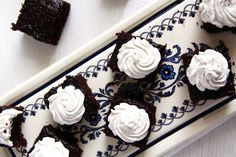 vegan brownies cream Vegan Brownies with Coconut Cream