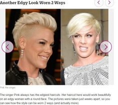 Pink-2 hairstyles in 1. Very Edgy :)