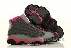 Nike Air Jordan 13 Kids Gris Rose Air Jordan 13 Deportivas