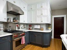 décoration de cuisine moderne bicolore