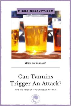 Why are tannins considered a migraine food trigger? Black tea, beer, dried fruit and wines all have tannins in them. Read about the connection to migraines here. Migraine Doctor, Migraine Art, Migraine Triggers, Migraine Relief, Daith Piercing Migraine, Foods For Migraines, Slippery Elm, Pain Management