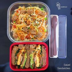 Salad Sandwich, Asian Cooking, Fried Rice, I Foods, Food Videos, Bento, Sandwiches, Clean Eating, Food Porn