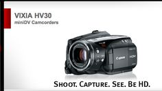 Canon - VIXIA HV30 miniDV Camcorders HDV Camcorder Item Code: 2680B001   http://www.usa.canon.com/cusa/support/consumer/camcorders/minidv_camcorders/vixia_hv30