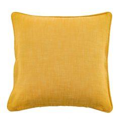 Cotton Slub Ochre Cushion | Dunelm