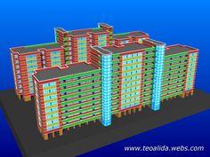 Corridor 3/4-Room apartment block 3D model inspired from Singapore Apartment Plans, Plan Design, Corridor, Service Design, Singapore, Facade, Architecture Design, House Plans, Floor Plans