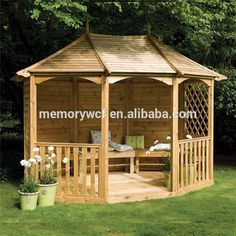 Custom any kinds of wooden gazebo,park and scenic wooden building