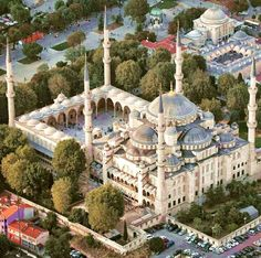 Blue Mosque Turkey Blue Mosque Istanbul, Istanbul City, Istanbul Turkey, Turkish Architecture, Art And Architecture, Blue Mosque Turkey, Beautiful Mosques, Famous Buildings, Fantasy House