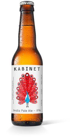Kabinet Brewery / India Pale Ale IPA by Sretan Bor, via Behance
