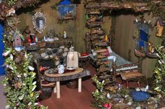 Fairy House with Furniture by Torisaur, via Flickr