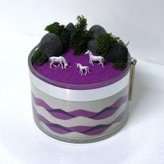 Unicorns in a Purple Field Zen Sand Garden by DesktopGardens, $35.00