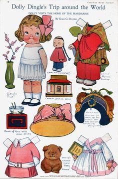 Dollly Dingle paper dolls, published December 1912, Toronto