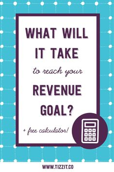 What Will It Take to Reach Your Revenue Goal? Craft Business, Business Tips, Online Business, Business Marketing, Entrepreneur Magazine, Handmade Shop, Handmade Products, Find Instagram, Etsy Seo