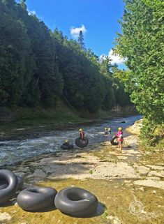Tubing down the Elora Gorge Day-Tripping in Elora, Ontario Ontario Camping, Ontario Travel, Top Travel Destinations, Places To Travel, Places To See, Alberta Canada, Ontario Getaways, Canadian Travel, Canadian Rockies
