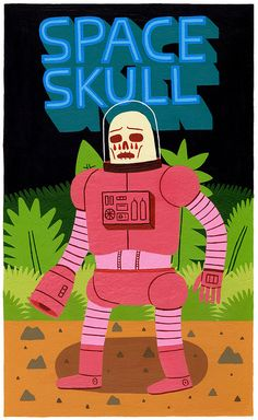 Space Skull by Jack Teagle