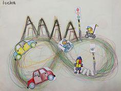 schrijfdans: het verkeer - #Het #Schrijfdans #verkeer Pre Writing, Casino Theme Parties, Eyfs, Kids Education, Fine Motor, Party Invitations, Illustration Art, Images, Drawings