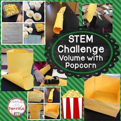 Can you design a container that will hold a specific amount of popcorn? This STEM Challenge uses popcorn and literature!