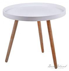 Stolik duży biały na 3 nóżkach