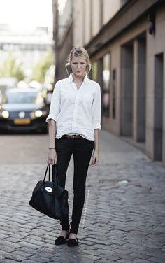 Resultado de imagen de look con camisa blanca mujer