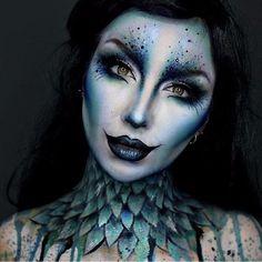 Sfx Makeup, Cosplay Makeup, Costume Makeup, Prom Makeup, Siren Costume, Witch Makeup, Makeup Eyeshadow, Beauty Makeup, Halloween Makeup Looks