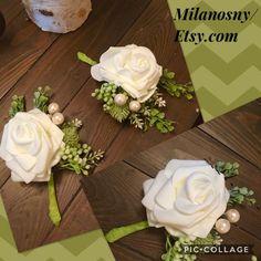 GROOMSMEN BOUTONNIERE Wedding Boutonniere Groom Boutonniere | Etsy
